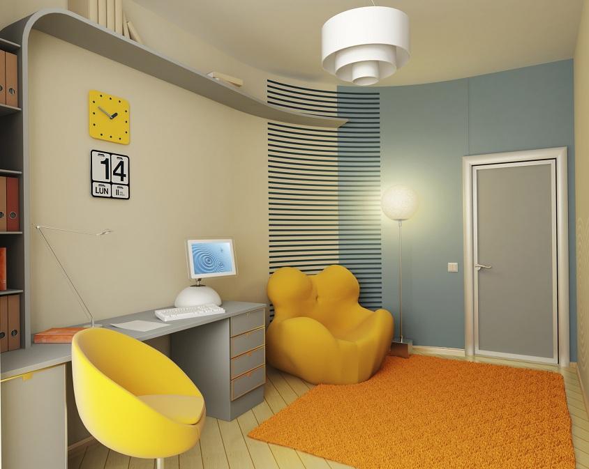 Interior of the children 39 s room - Colores para las habitaciones ...