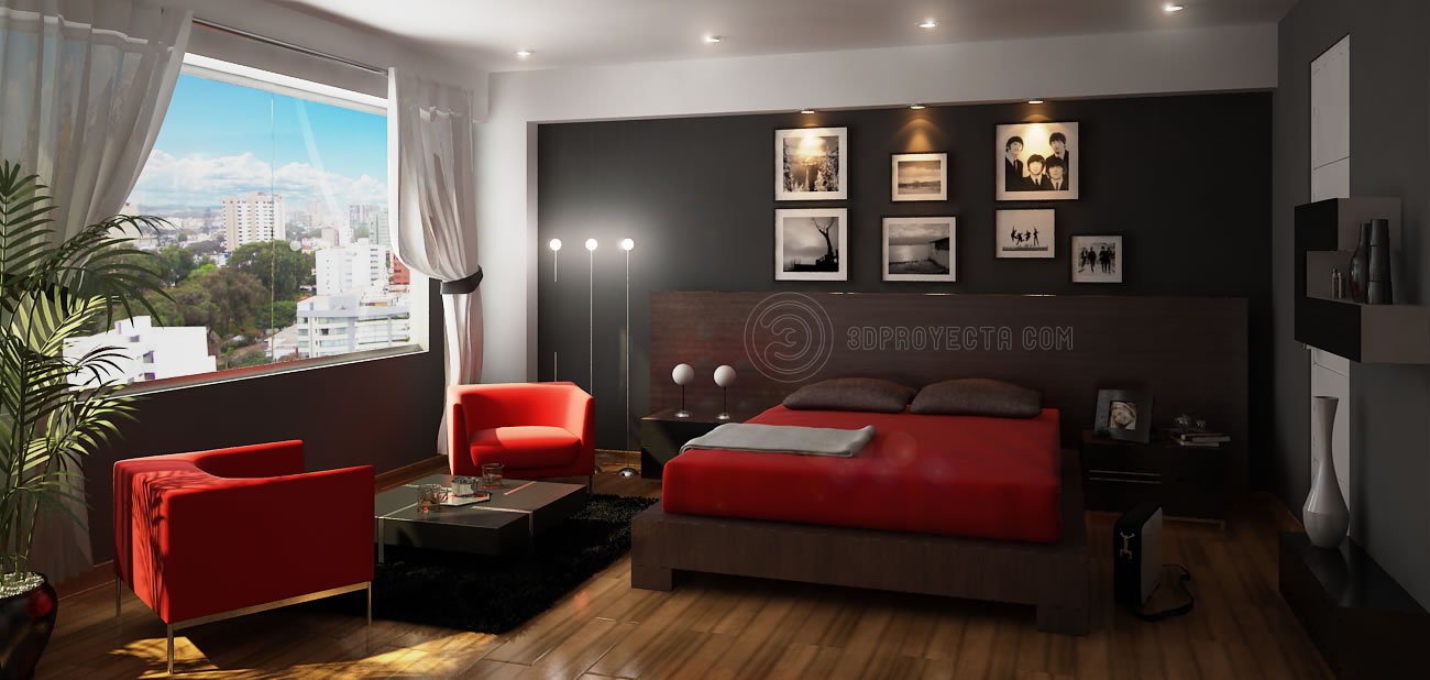 Dormitorios de color marr n chocolate - Decoracion de dormitorio principal ...