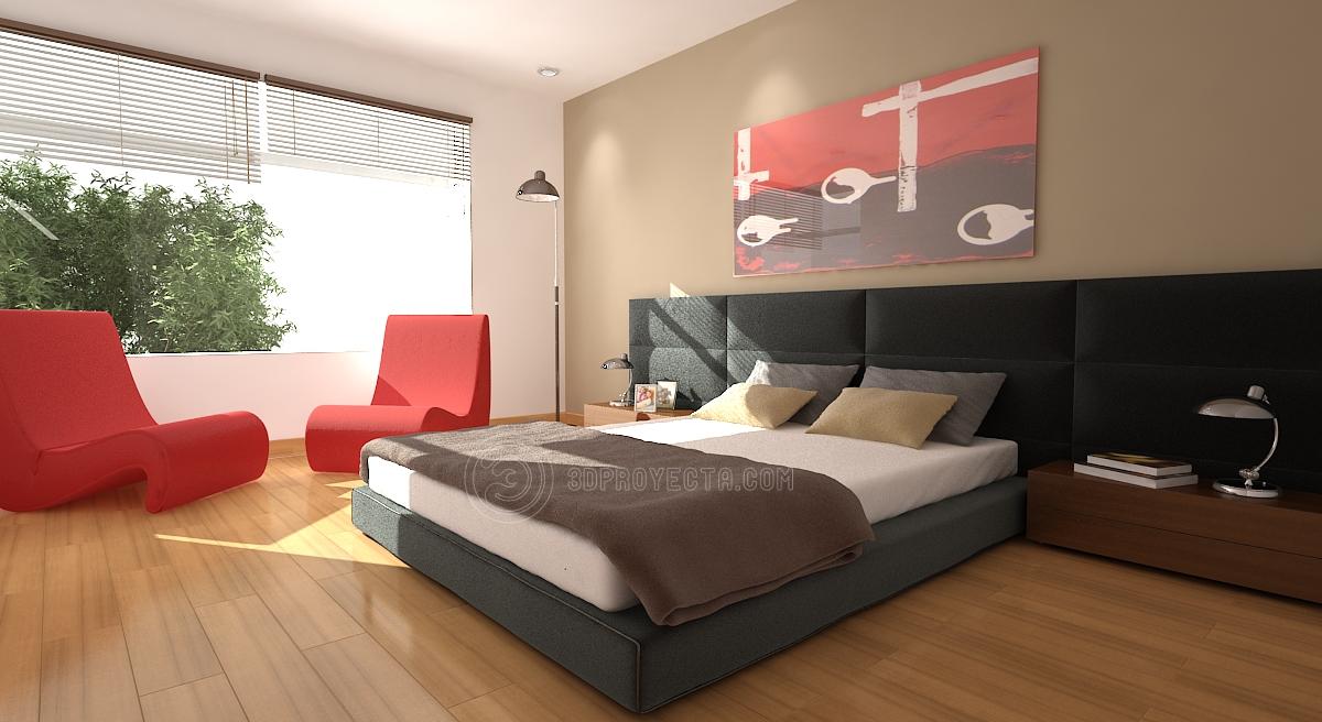 Dormitorio marron 8 for Disena tu dormitorio 3d