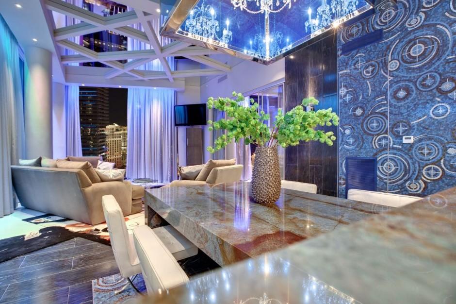 Casa Con Un Diseo De Interiores Futurista