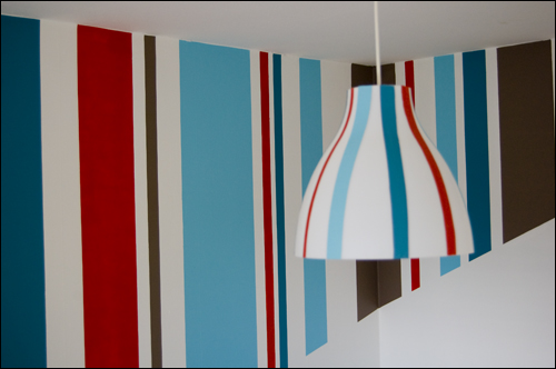 Pared rayas for Papel de rayas para pared