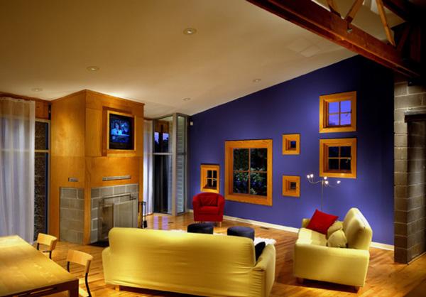 Diseu00f1o interior con una mezcla de colores