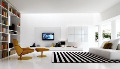 white-and-black-livingroom
