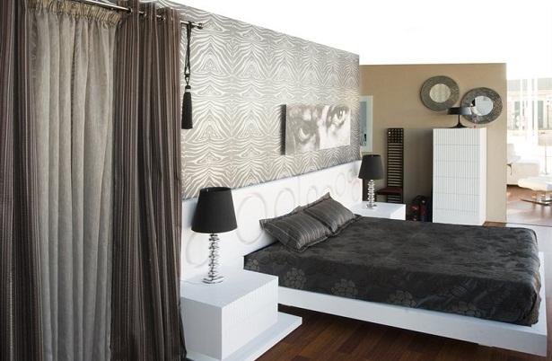 Cortinas para el dormitorio for Cortinas dobles para dormitorios