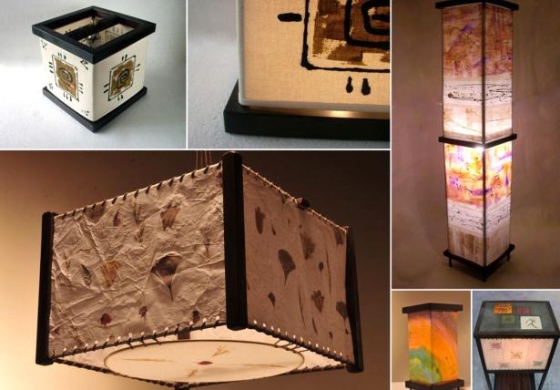 L mparas de papel - Decoracion de lamparas de papel ...