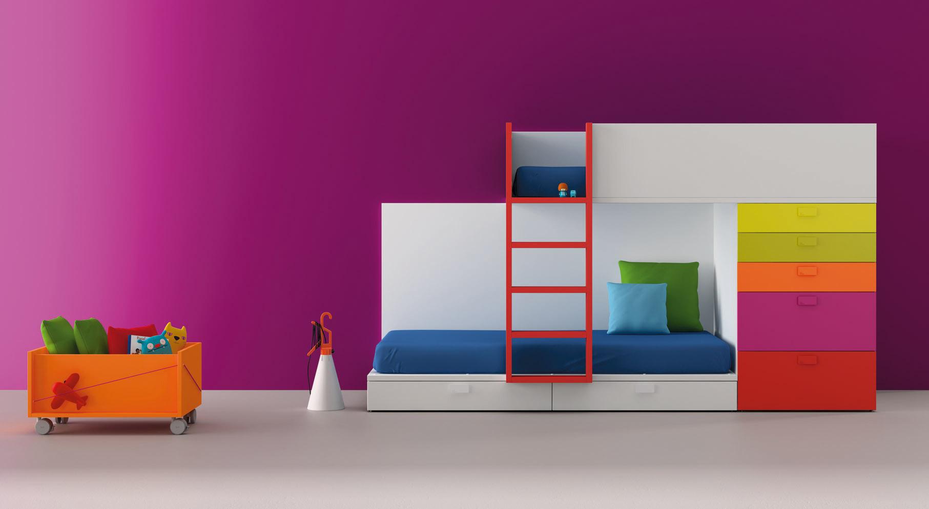 Benicarl moble bm2000 mueble juvenil infantil y moderno - Mueble juvenil diseno ...