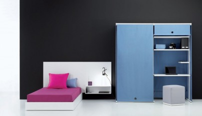 Dormitorios juveniles minimalistas for Habitaciones juveniles japonesas