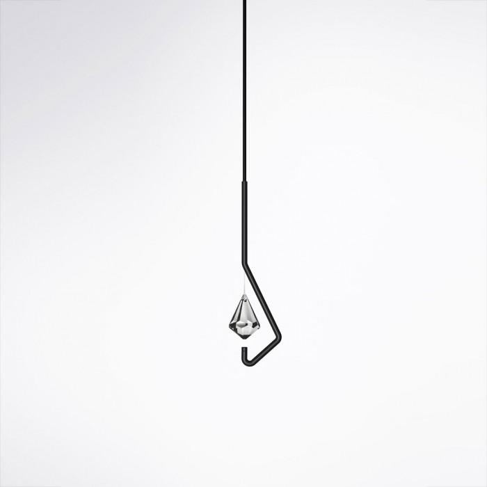 L mpara minimalista de cristal for Lampara de piso minimalista