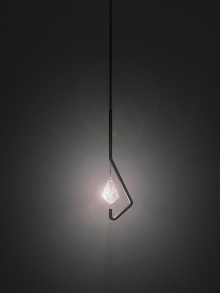 Lamparas Para Baños Minimalistas:Lámpara minimalista de cristal (1/4)