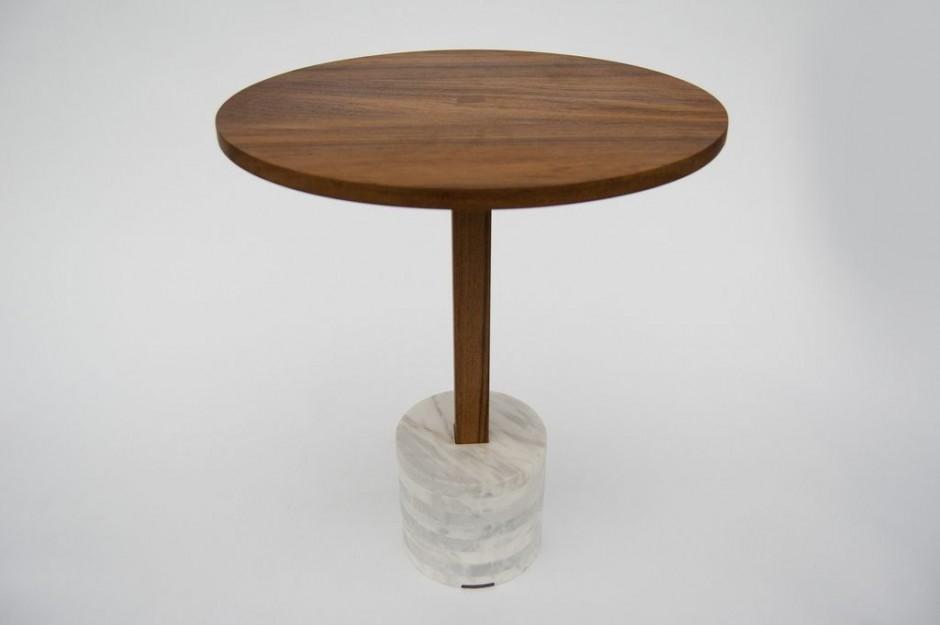 Mesas hechas con madera de teca y marmol4 for Mesas hechas con puertas de madera