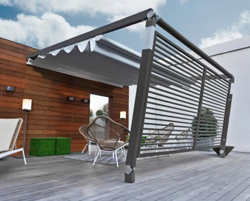 P rgola con toldo de corradi - Toldos para patios exteriores ...