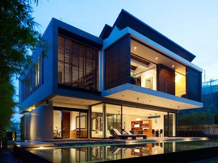 Casa lujosa en singapur for Interiores de casas lujosas
