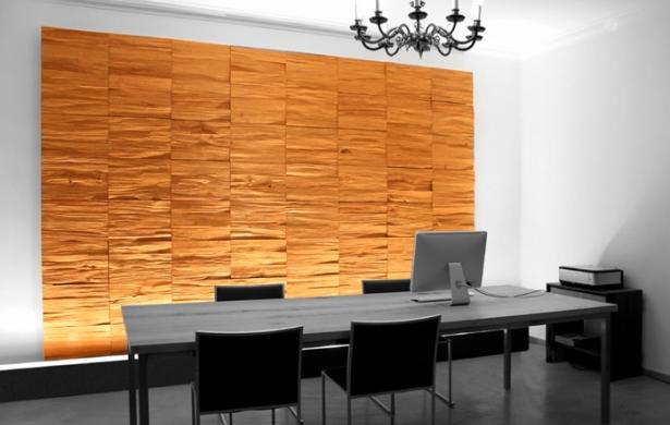 Decoración con paneles de madera