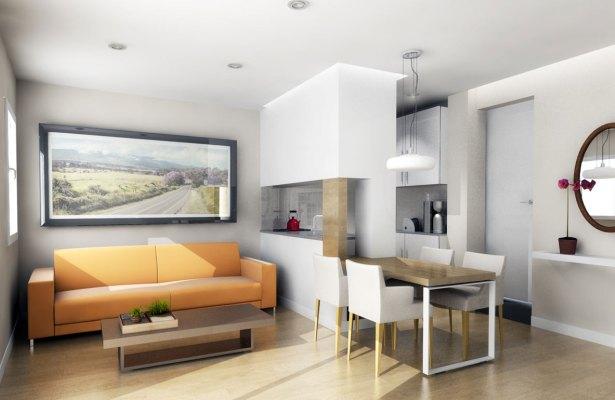 decoracion interiores departamentos rusticos:Muebles para un piso pequeño