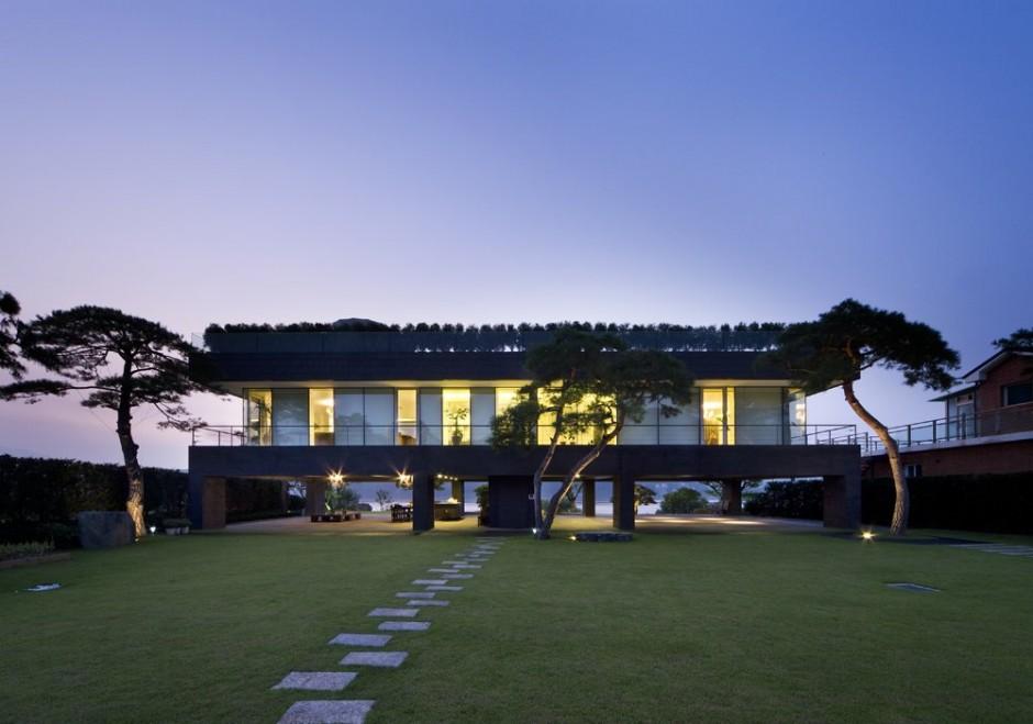 Casa de lujo en corea del sur for Casa moderna corea