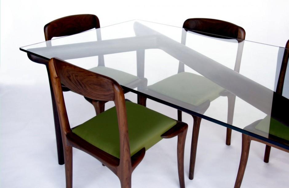 Ko mesa de madera y cristal for Mesas de comedor cristal y madera