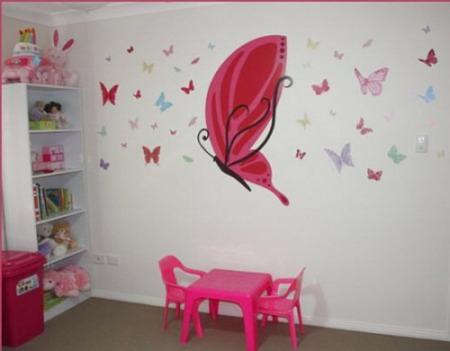 Decoracion en mariposa imagui - Decorar pared fotos ...
