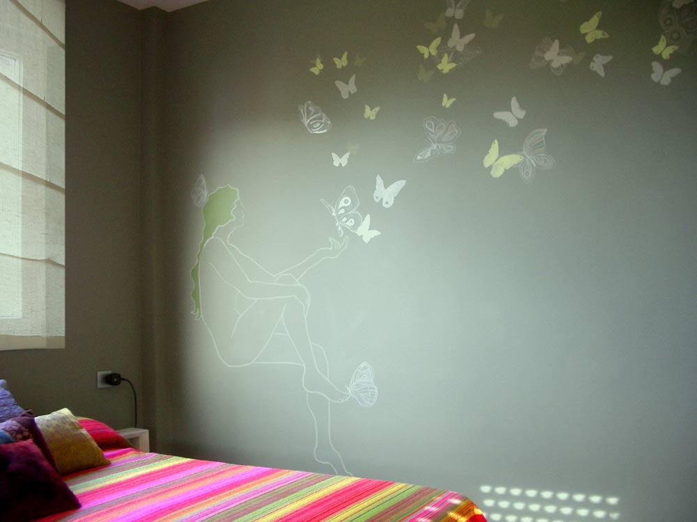 Mariposas en la decoracion - Decorar paredes habitacion ...