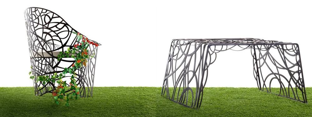 Mobiliario art stico de jard n por celato for Mobiliario de jardin
