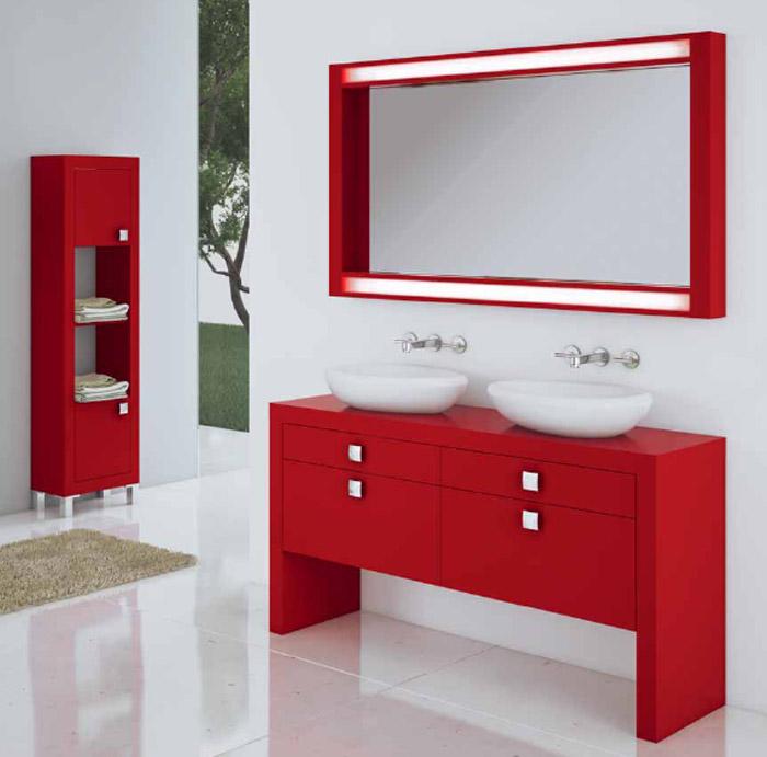 Imagenes de ba os rojos - Muebles de bano rojos ...