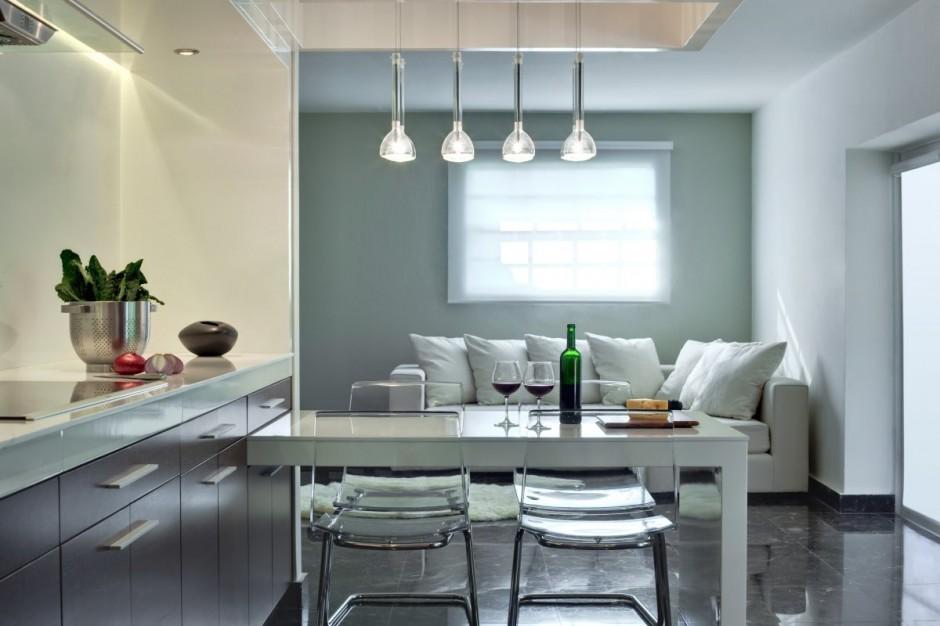 Apartamento decorado de dise o simple - Diseno de salon comedor ...