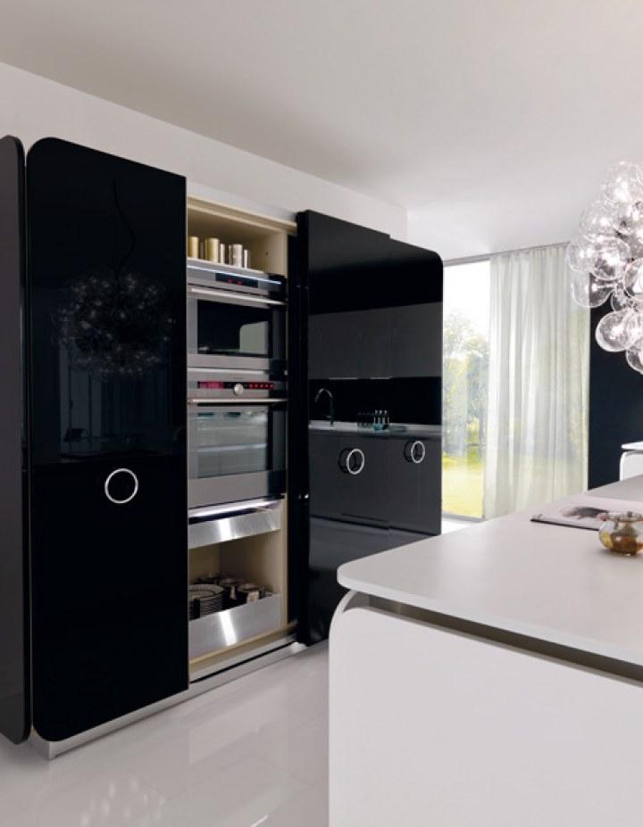 Cocina moderna en blanco y negro5 - Cocina blanco y negro ...