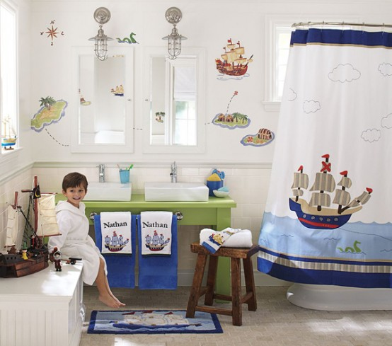 Decoracion Baño Jardin Infantil:Kids Bathroom Decorating Ideas