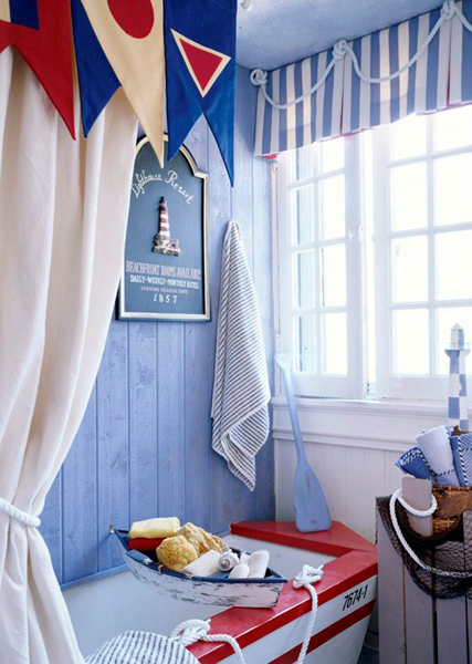 Baño Para Jardin Infantil:Nautical Bathroom Decor