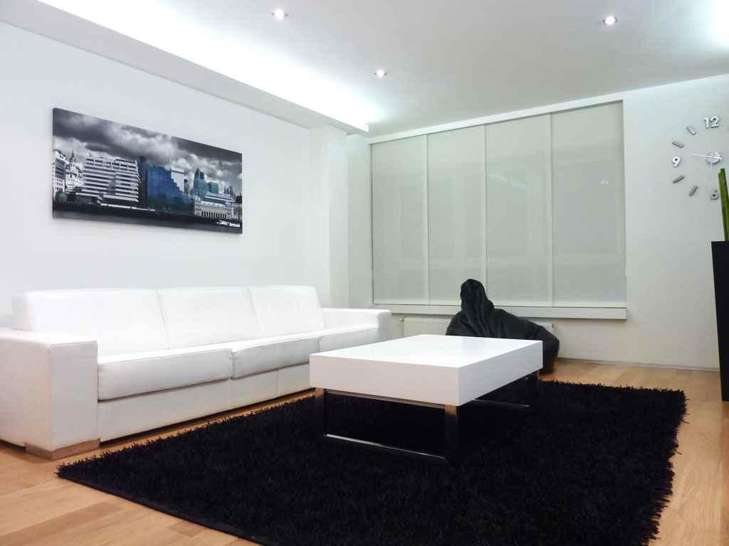 Muebles modernos para el sal n - Salones con sofa negro ...