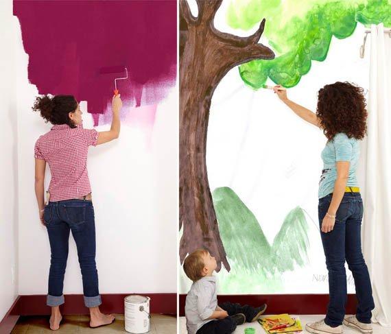 Papel para pintar paredes - Paredes pintadas para ninos ...