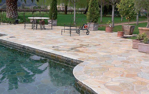 Tipos de piedras para el suelo del hogar for Baldosas para el jardin