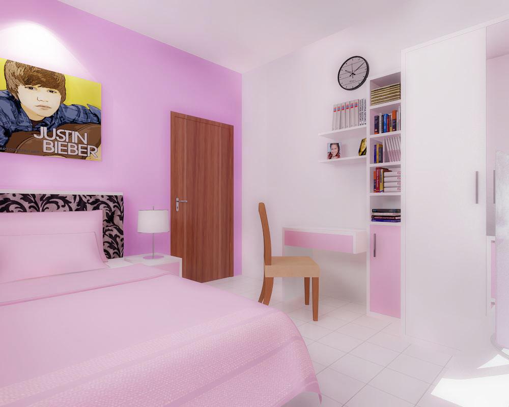 Dormitorios femeninos ~ Quarto Rosa Com Branco