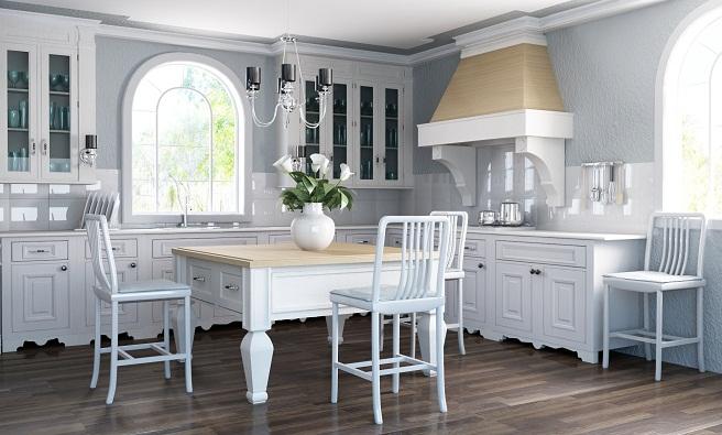 Cocinas de color blanco for Cocinas modernas color blanco