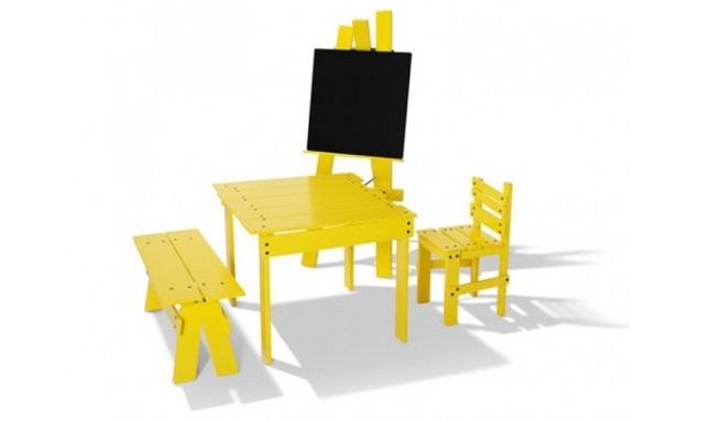 Muebles amarillos para ninos for Muebles de ninos