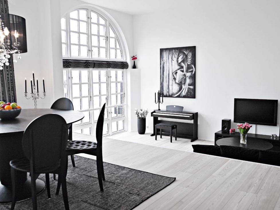 Decoracion Loft Duplex ~ D?plex decorado en blanco y negro