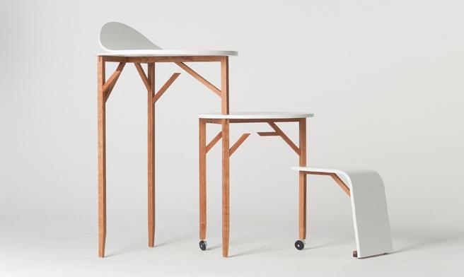 mobiliario minimalista para trabajar