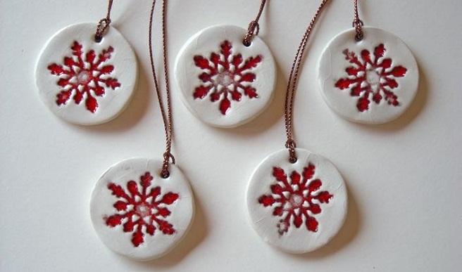 Ornamentos de cer mica para navidad - Ornamentos de navidad ...