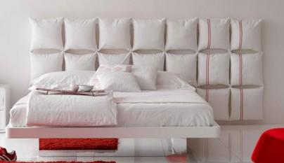 Cabeceros de cama con almohadas y cojines - Cojines grandes cama ...