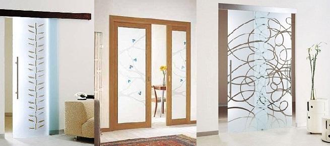 Puertas de vidrio for Modelos de puertas para dormitorios