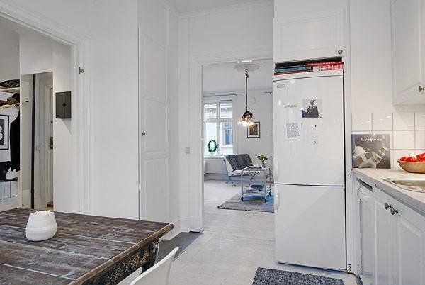 apartamento decorado en blanco escandinavo