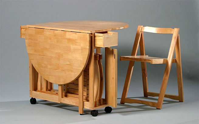 Tipos de mesas plegables - Mesas plegables para salon ...