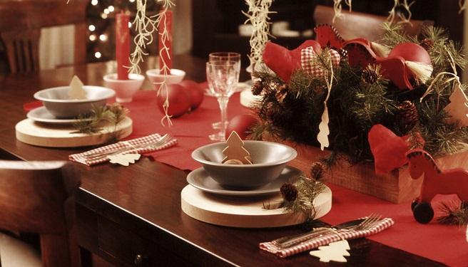 Ejemplos de mesas de Navidad
