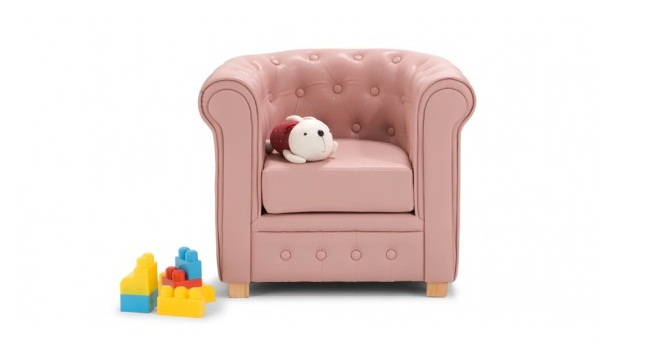 Sill n chesterfield para ni os for Silla infantil ikea