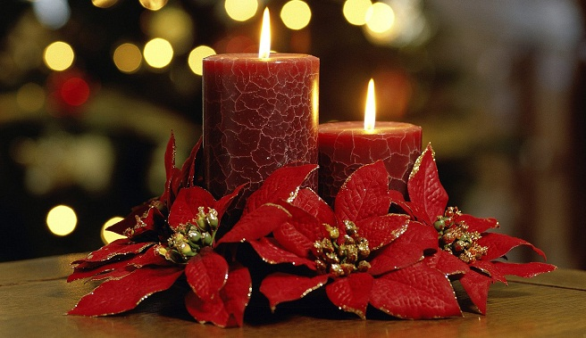 Velas para la decoraci n de navidad for Decoracion del hogar con velas