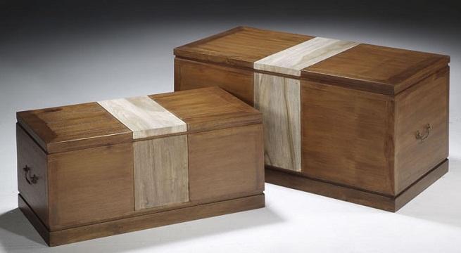 Ba les para decorar y ahorrar espacio - Baules de madera para decorar ...