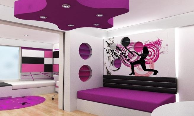 Decoraci n con colores en los dormitorios - Decoracion de paredes dormitorios juveniles ...