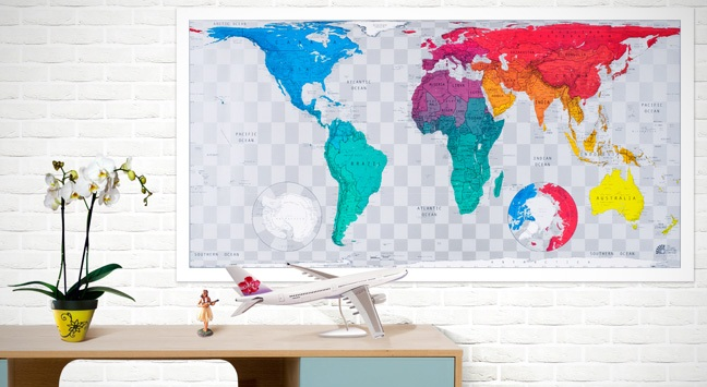 mapa del mundo para decorar