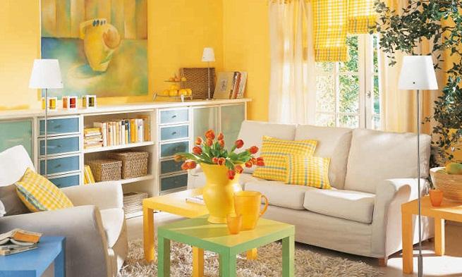 Decoración del hogar en color amarillo