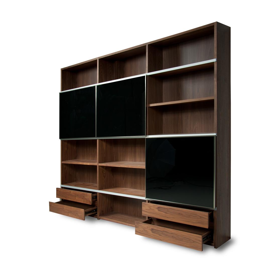Estanter a de madera con varios compartimentos - Estanterias madera ...
