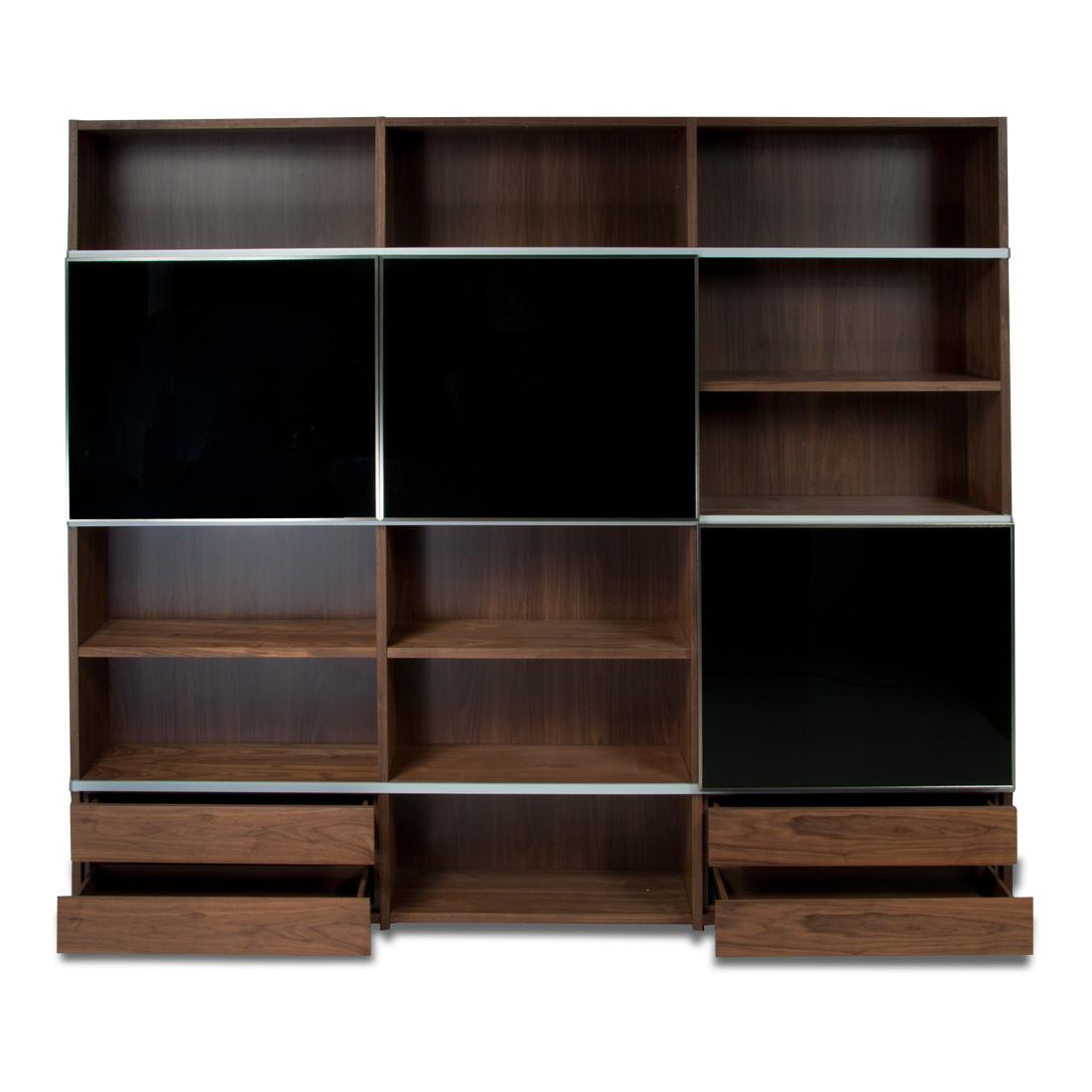 Estanter a de madera con varios compartimentos - Estanterias modulares madera ...